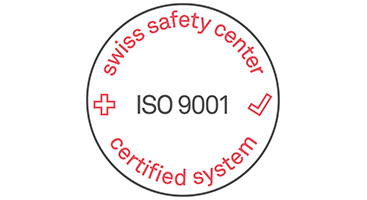 ISO 9001 certification for the development and delivery of software solutions for Tool Lifecycle Management. (ISO 9001 logo)