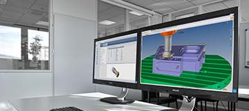 CAM interfaces make programming and simulation easier.