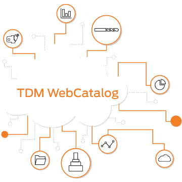 TDM WebCatalog Cloud Illustration